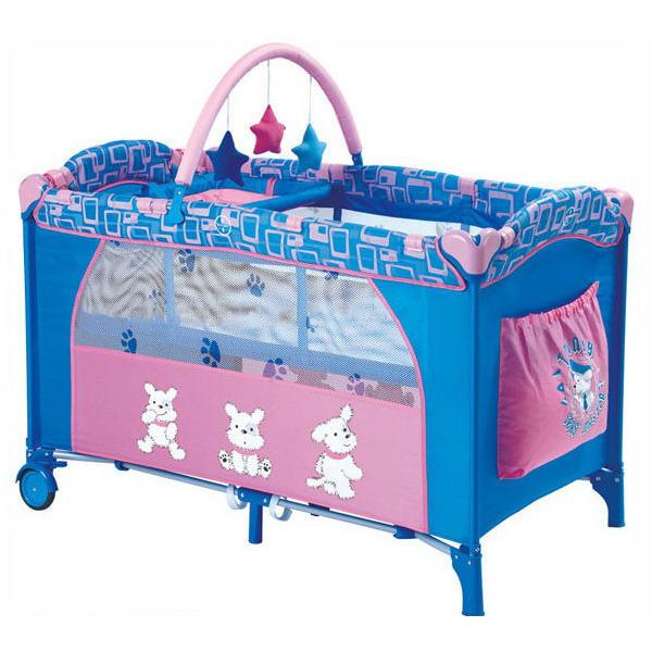 En71 Folding Handiness Baby Playpens Blue
