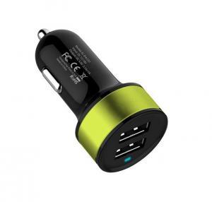 Fashion Hot Selling Dual 2 Port Universal USB Car Charger For iPhone 5 5s iPad 2 3 4 5 iPod eGo e Cigarette Camera Light Blue