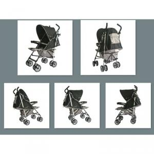 C238 Three Wheels Baby Stroller Purple