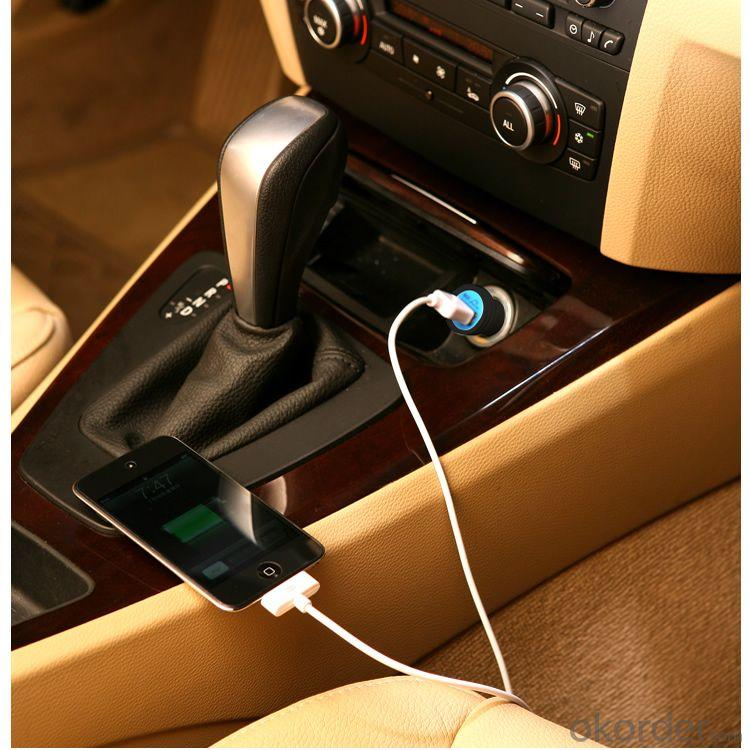 China Manufacture For iPhone 5 5s Dual 2 Port Universal Mini USB 5V Car Charger eGo Cigarette Lighter Adaptor Pink