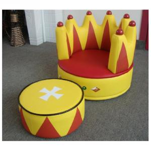 Creative Imperial Crown Shape Children's Sofa with Ergonomic Design