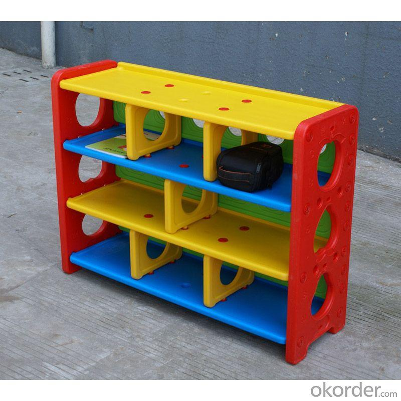 Colorful Plastic Children's Cabinet Storage High Capacity Space-saving