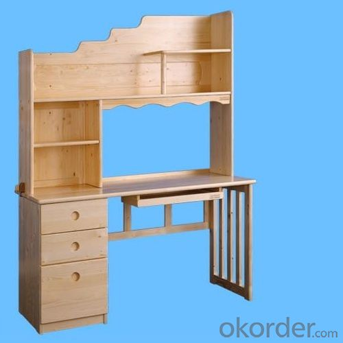 China Factory Solid Wood Children Computer Desk With Bookshelf, Wooden Kids Computer Desk With Bookrack