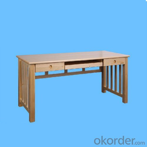China Factory 2014 New Design Solid Wooden Children Table With Bookrack, Natural Wood Kids Desk With Bookshelf