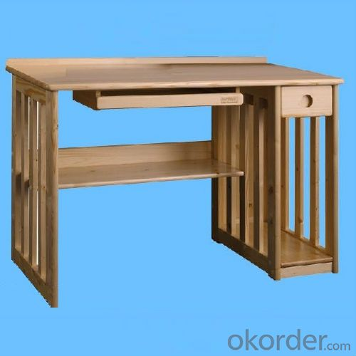 Factory Wholesale Solid Wood Children Table With Bookshelf, High Quality Natural Wood Kids Computer Desk