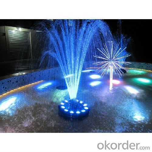 led fountain light with blue light