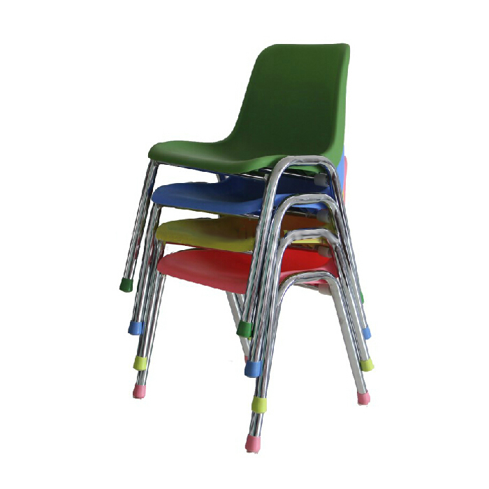 Stylish Kids' Chair for Preschool ABS and Chromed Frame for Wholesale