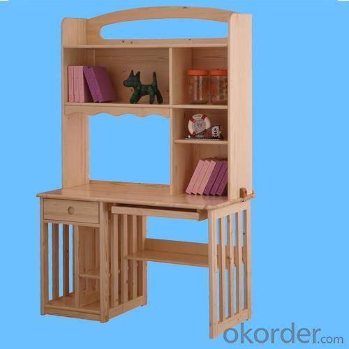 Children Computer Desk/Students Study Table with Bookrack in Solid Wood