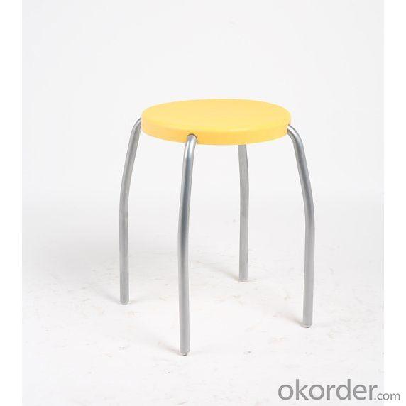 Comfortable Black Leisure Stool for Kids with Powder Coating Steel Frame