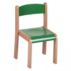 Wooden Children's Chair for Kingdergarten Solid Wood Multiple Color