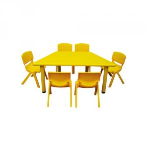 Trapezoid Table Plastic Children'S Chairs