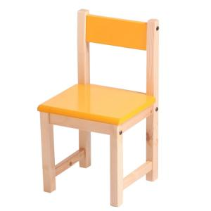 Wooden Beech Kids' Study Chair Non-toxic Pretty Color Customization
