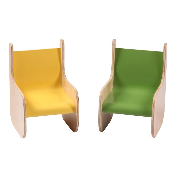 Wooden Frame Children's Chair for Kingdergarten Multilayer Customized Color