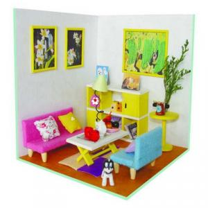 For Kids With Light And Simulation Furniture Doll House