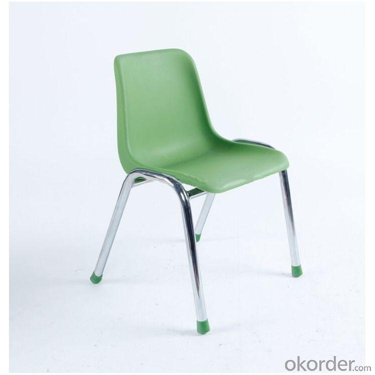 PP Stacking Kids' Chair with Steel Frame Eco-friendly Material Colorful
