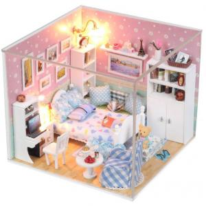 Nice Mini Wooden House Toys in Latest Style for Children with Light