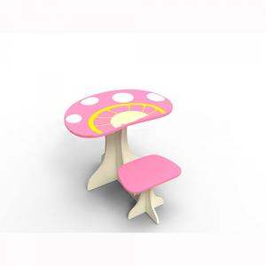Children Furniture Preschool Children Table/Kids Study Table and Chair Set in Cartoon Mushroom Pattern
