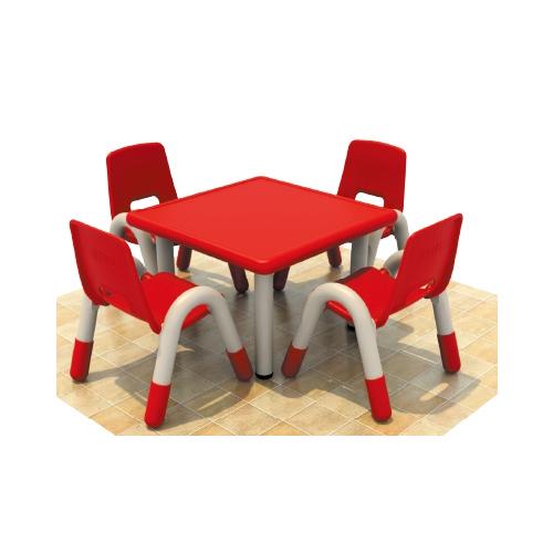 Four Seats Square Desk Pp Plastic Children'S Chairs