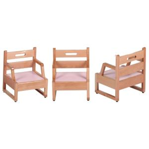 Kids' Chair for Kingdergarten Made of Solid Wood Beech Multiple Color