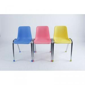 Plastic One Piece Chair for Children ABS and Chromed Frame Ergonomic Design