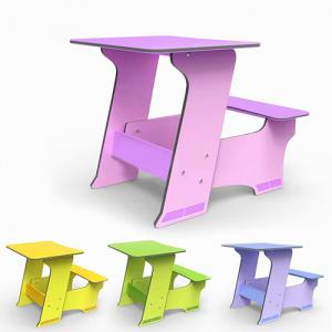 Customizable Student Study Desk Children Table/Kids Furniture and Chair Set Cartoon