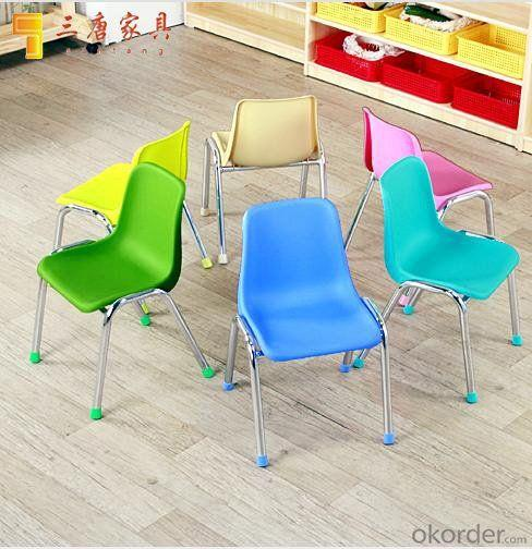 Kids' Plastic Steel Chair for Kingdergarten Conference with Bright Color