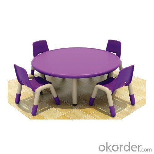 Four Seats Round Desk Pp Plastic Children'S Chairs