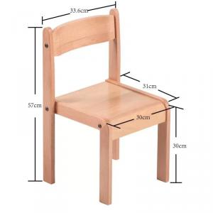 Bright Color Wooden Chair for Children Non-toxic Ergonomic Design