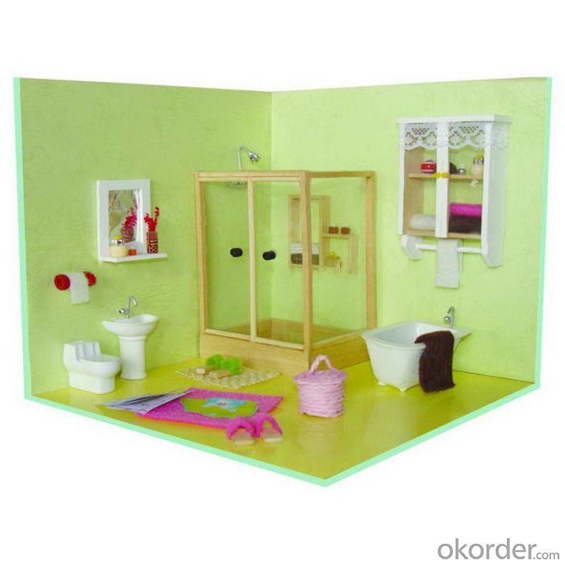 Wooden Doll House, Christmas Miniature House, Christmas Lighted House