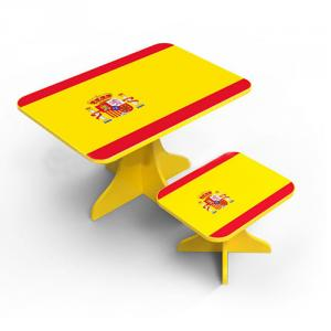 Student Study Desk Children Table Kids Study Table in Flag Design