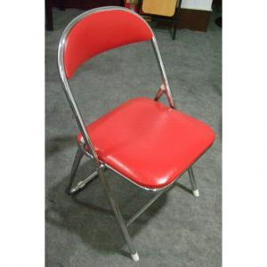 Portable PU Folding Children's Chair with Powder Coating Steel for Primary School