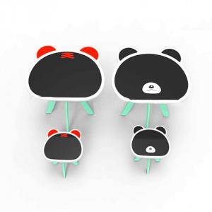 Kids Table Children Table in Panda Tiger Cartoon