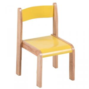 Wooden Children's School Chair Ergonomic Design Multiple Color