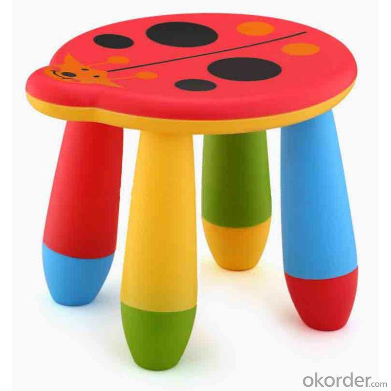 Colorful Kids' Plastic Stool Animal Pattern Eco-friendly Material