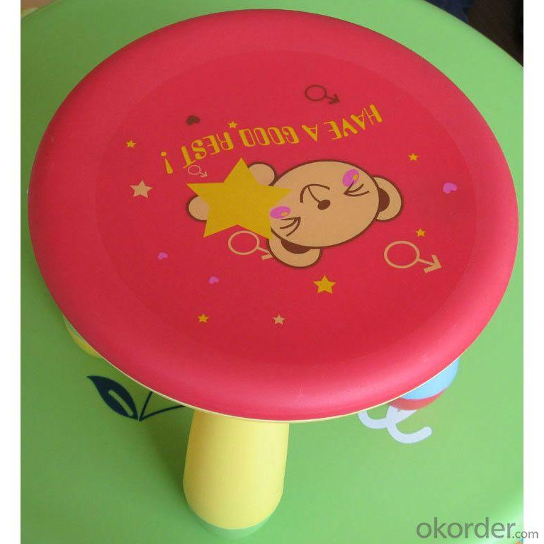 Plastic Stool for Children Cartoon Style with Customized Color