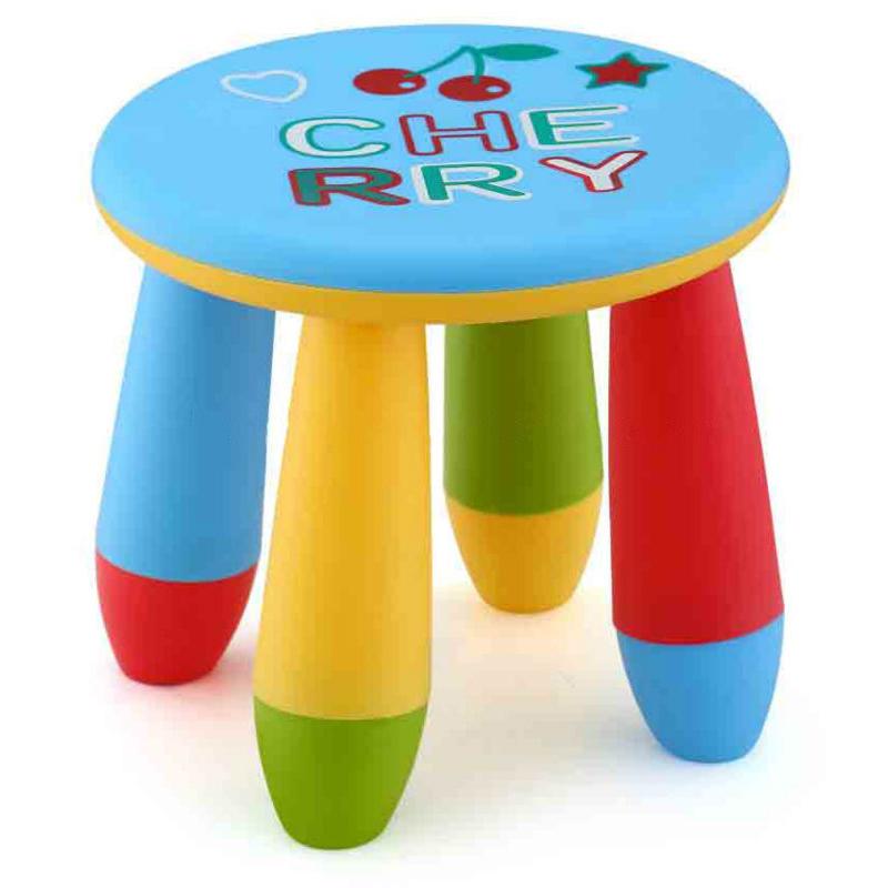 Colorful Round Children's Stool for Kingdergarten Non-toxic PP Plastic
