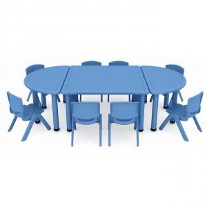Plastic Children Furniture Desks Group with Multi-Function Optional Colors