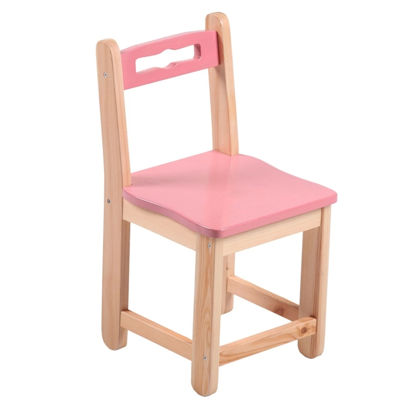 Colorful Beech Kids' Chair Made of Eco-friendly Solid Wood New Design
