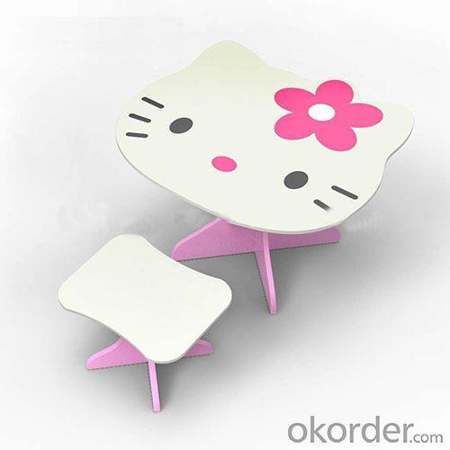 MDF Children Preschool Furniture/Students Study Table in Hello Kitty Pattern Wood OEM