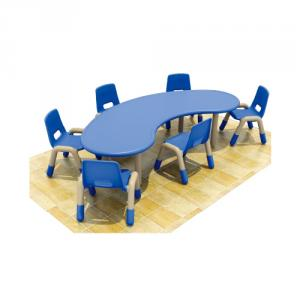 Moon Shape Six Seats Pp Plastic Children'S Chairs
