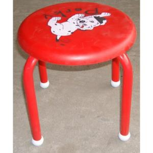 Lovely Cartoon Stool for Kids with Powder Coating Metal Frame