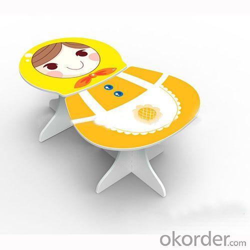 Children Table Kids Desk Assembled in Cartoon Russian Doll Pattern