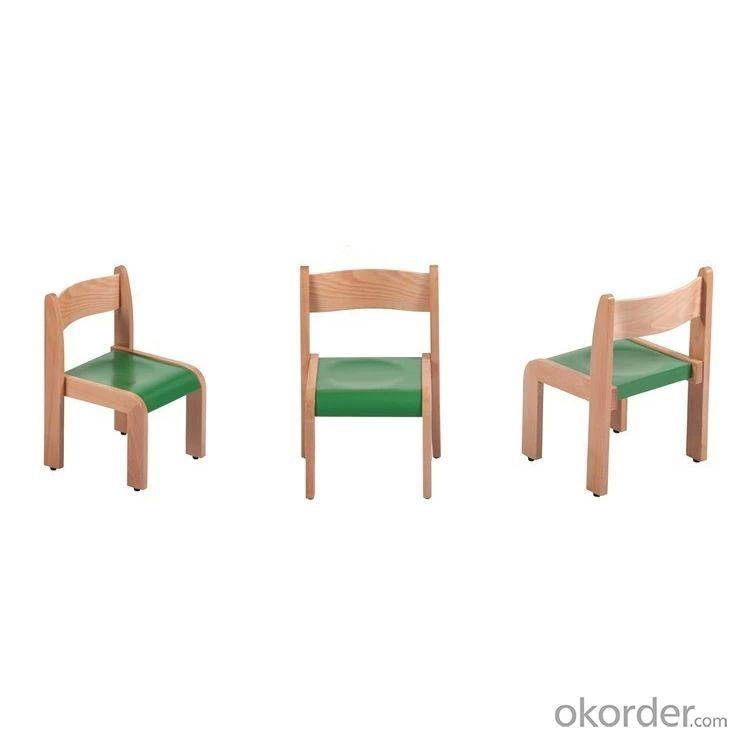 Wooden Children's Study Chair New Design with Customized Color