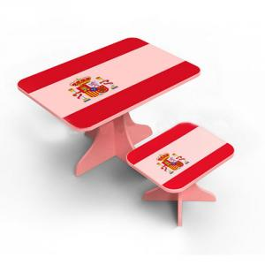Student Study Desk School Furniture Kids Study Table in Flag Design