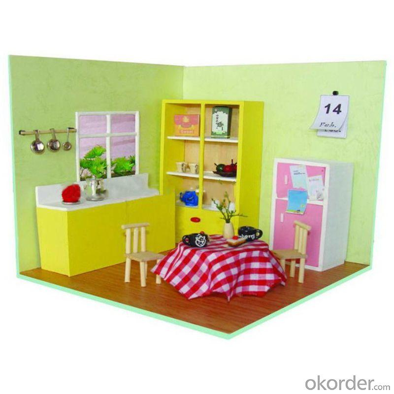 Diy Wooden House Toy For Kids With Light And Simulation Furniture