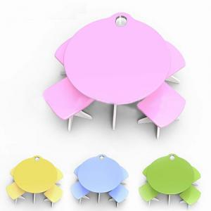 Children Furniture/Kids Desk/Student Study Table and Chair Set in Hello Kitty Cartton Pattern