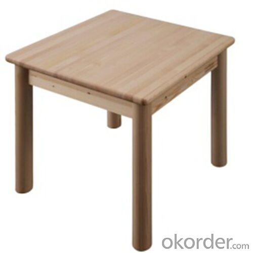 Children Preschool Furniture/Students Study Table with 4 Solid Wood Chairs in Pine Wood