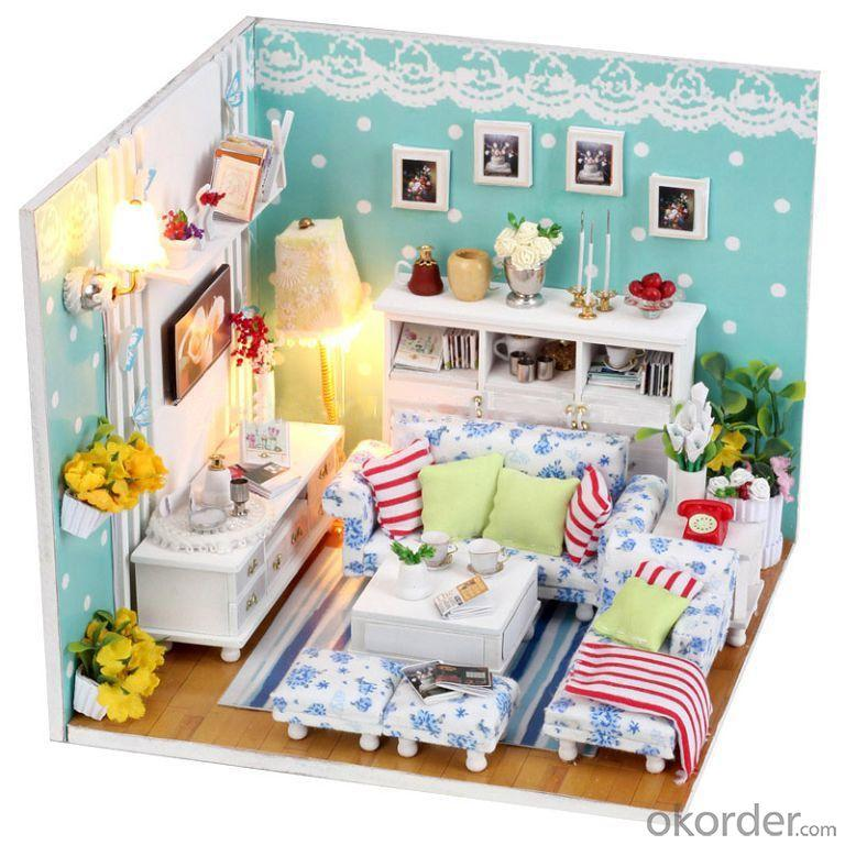 Funny Doll House with Light DIY Adult Wooden Doll House In Glass
