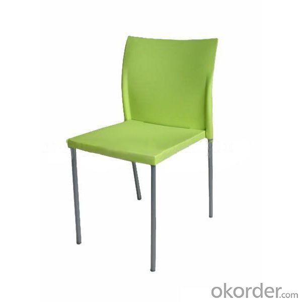 Stylish Children's Dinning Chair with Chromed Steel Frame Light Green