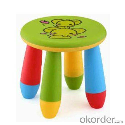 Colorful Round Children's Stool for Kingdergarten Non-toxic PP Plastic